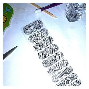 Jamberry nail wraps Aztec clear
